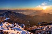 塔特拉山在日落-西上塔特拉山、 rohace — 图库照片