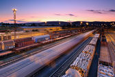 Cargo transportatio with Trains and Railways — Stock Photo