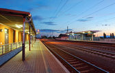 Passenger train station - railway — Stock Photo