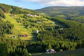 Beautiful landscape of a mountain relief of Krkonose — Stock Photo