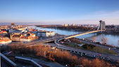 Bratislava from castle — Stock Photo
