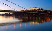 Bratislava på twilght — Stockfoto