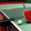 Equipment for table tennis - racket, ball, table — Stock Photo #19001359