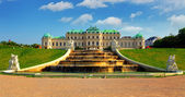 Wien - belvedere palace med blommor - österrike — Stockfoto
