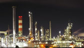 Oil refinery - petrochemical industry — Stock Photo
