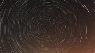 Cumulative time lapse of star trails — Stock Video