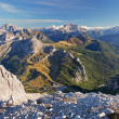 View from the top of Lagazuoi, Dolomites, Italy — Stock Photo