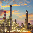 Oil and gas industry - refinery at twilight - factory - petroche — Stock Photo #19466575