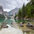Lake - Lago di Braies in Dolomiti Mountains - Italy Europe — Stock Photo #19466629