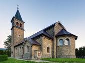 Nice Catholic Church in eastern Europe - village Babin - Orava - — Stock Photo