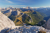 Vista dalla cima del lagazuoi, dolomiti, italia — Foto Stock
