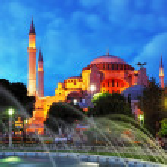 Istanbul mosque - Hagia Sophia at night — Stock Photo #19662395