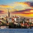 Stock Photo: Istanbul at sunset - Galatdistrict, Turkey