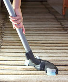 Vacuum cleaner - cleaning the house — Stock Photo