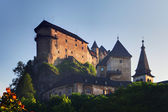 Beautiful Slovakia castle at sunset - Oravsky hrad — Stock Photo