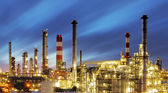 Factory at sunset - oil refinery — Stock Photo