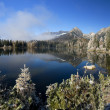 Mirror in a beautiful lake in the High Tatras - Stock Photo