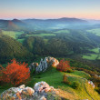 Landscape with rocky mountains at sunset in Slovakia — Stock Photo #19750821