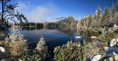 Mirror in a beautiful lake in the High Tatras — Stock Photo