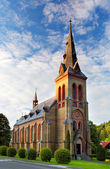 Nice Catholic Church in eastern Europe - Czech republic — Stock Photo