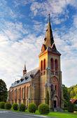 Nice Catholic Church in eastern Europe - Czech republic — Stock Photo