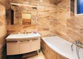 Modern ev banyo iç — Stok fotoğraf