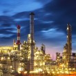 Stock Photo: Oil refinery at twilight - factory