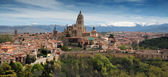 The last Gothic cathedral built in world, in Segovia — Stock Photo