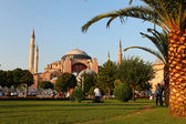 Hagia Sophia is the famous historical building of the Istanbul. — Foto Stock