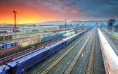 Train Freight transportation platform - Cargo transit — Stock Photo