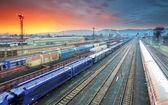 Tren Nakliye taşımacılık platformu - cargo transit — Stok fotoğraf