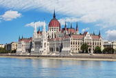 Hungarian parliament from castle - Hungary — Stock Photo