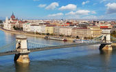 Budapest - panorama from castle, Hungary — Stock Photo