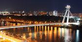 Bratislava cityspace - panorama du château — Photo