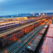Stock Photo: Cargo train trasportation - Freight railway