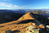 Mountain panorama at autumn in Slovakia - Small Tatras - Dumbier — Stock Photo