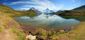 Bachalpsee - lake with mountain in the Swiss Alps. Switzerland - — Stock Photo
