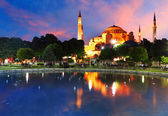 Hagia Sofia with reflection - Isntanbul, Turkey — Stock Photo