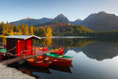Mountain Lake in Slovakia Tatra - Strbske Pleso — Stock Photo