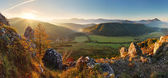 Mountain panorama in Slovakia - spring — Stock Photo