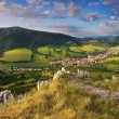 Stock Photo: Slovakia countryside - Summer mountain panorama - Nice village Omsenie