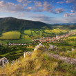 Slovakia countryside - Summer mountain panorama - Nice village Omsenie — Stock Photo #21739957