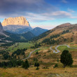 Mountain Landscape in Italy Alps - Passo Gardena in Dolomites — Stock Photo