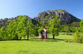 Autumn landcape with chapel in eastern europe - Slovakia — Stock Photo