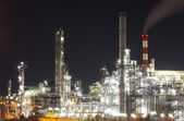 Oil and gas industry - refinery at twilight - factory - petroche — Stock Photo