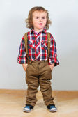 Little boy in rural clothes — Stock Photo