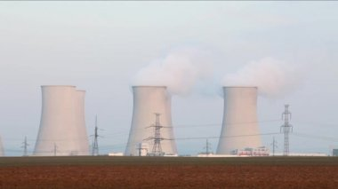 Nuclear power plant — Stock Video