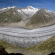 The Aletsch glacier — Stock Photo