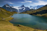 Mountain with lake — Stock Photo