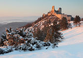 The ruins of castle Cachtice — Stock Photo